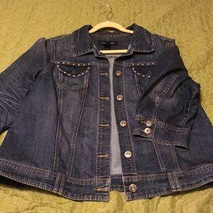Jean Jacket, 3/4 Sleeve 2X